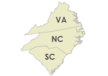 Virginia, North Carolina & South Carolina